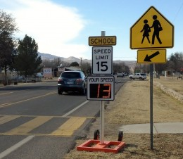 School Zone -Radarsign Mobile Patrol