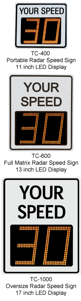 Radarsign Speed Display models
