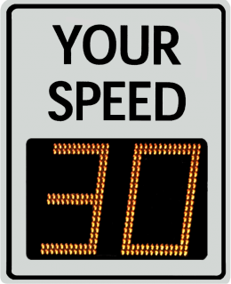Radarsign TC-1000 radar speed sign