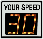 Radarsign TC-400 radar speed sign