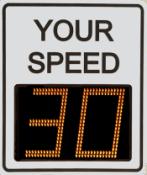 Radarsign TC-600 radar speed sign