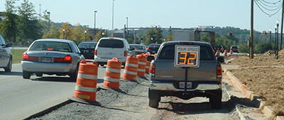 work zone safety using radar speed signs