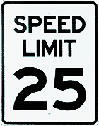 Radarsign Options and Accessories-regulatory speed sign
