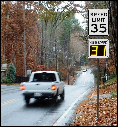 Radarsign™ is being used to slow speeding drivers and make road safer