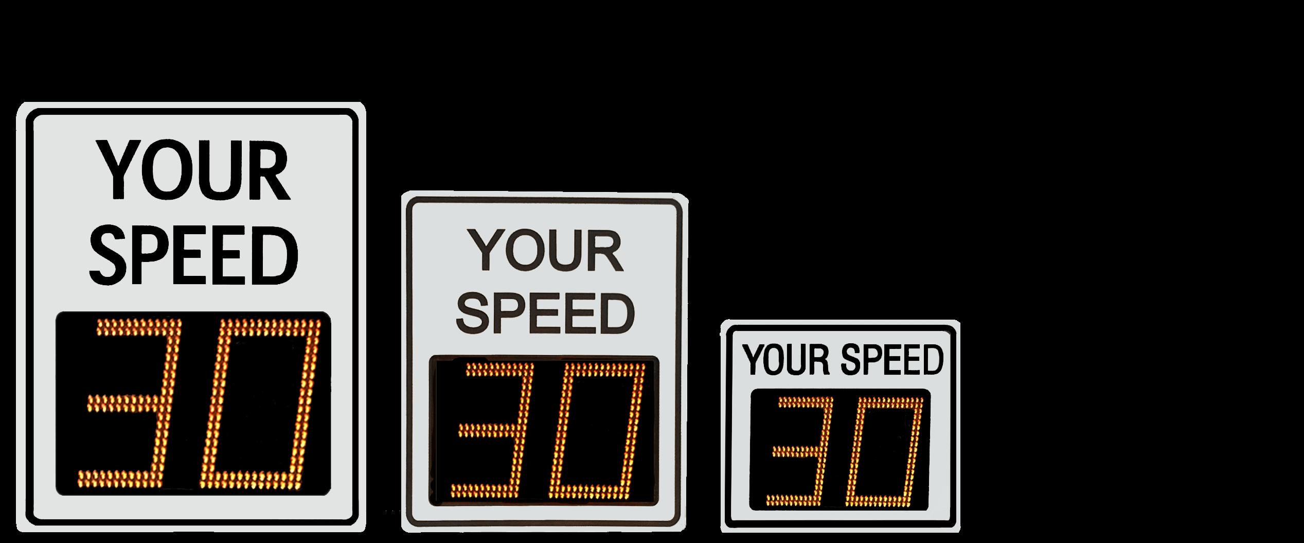 Radar Speed Sign Faceplate