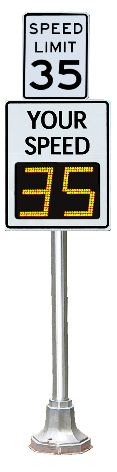 TC-1000 radar speed sign