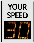Radarsign TC-1000 radar speed sign model