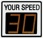 Radarsign TC-400 radar speed sign model