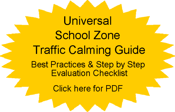 Radarsign Universal school zone traffic calming guide