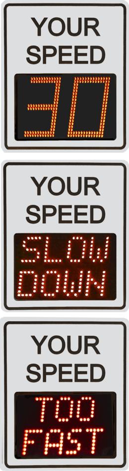 Full Matrix Radar Speed Sign