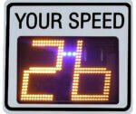 Radarsign TC-400 Portable Radar Speed Sign with strobes